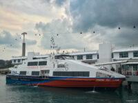 Docked ferry / speedboat